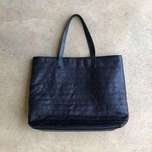 Madewell Quilted Leather Transport Tote Bag